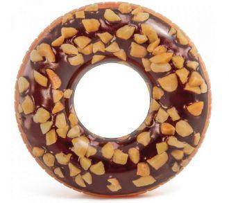 Nafukovací kruh - Čokoládový donut - 114 cm