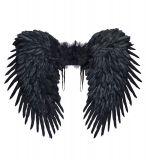 Křídla černá péřová - 80x65 cm