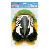 Papírová maska Papoušek