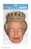 Papírová maska Královna Alžběta II