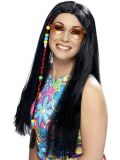 Paruka Hippy Party s copem černá