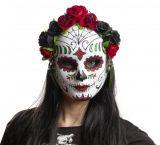 Maska obličejová - Katrina - s kytkami