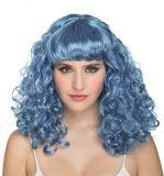 Paruka kudrnatá modrá