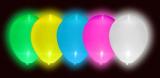 LED Svítící balónky 5 ks mix barev