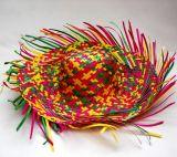 Slamák- barevný - roztřepený - 41 cm
