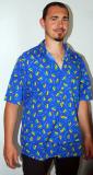 Modrá košile s kondomy