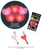 Svítící balónky ve tvaru srdce s LED diodou