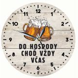 Dřevěné hodiny - Do hospody včas