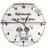 Dřevěné hodiny - Pro zamilované