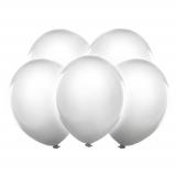 LED Svítící balónky 5 ks bílé