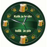 Dřevěné hodiny - Kolik hodin tolik piv