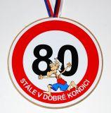Medaile k 80. narozeninám pro muže