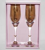 Svatební sada velkých sklenic - Ženich a nevěsta