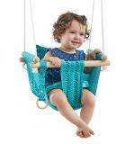 Dvěděti Dětská textilní houpačka 100% bavlna tyrkysová