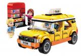 Stavebnice Qman Colorful City 1134 Taxi