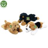 Plyšový pes ležící 3 druhy 18 cm ECO-FRIENDLY