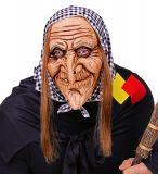 Maska - Babka s vlasy a šátkem