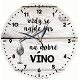 Dřevěné hodiny - Čas na víno