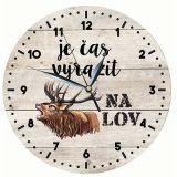 Dřevěné hodiny - Je čas vyrazit na lov